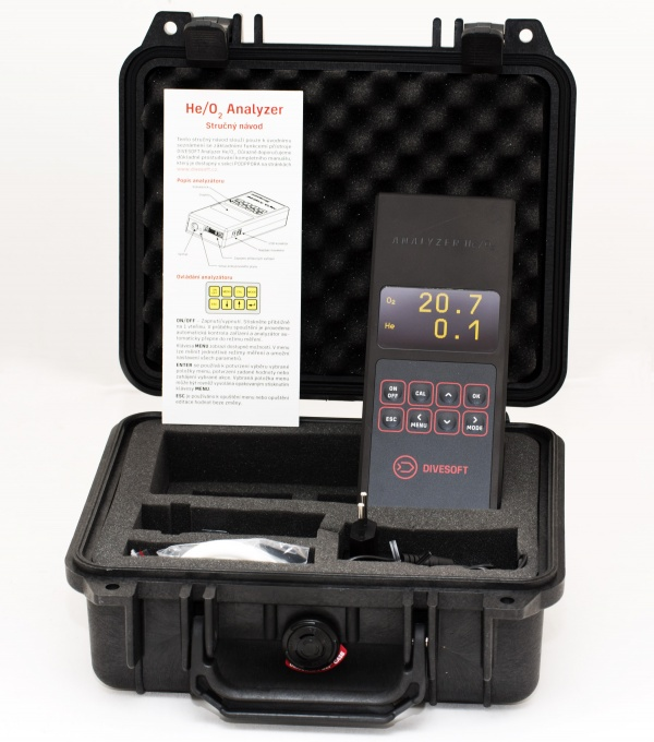 DIVESOFT O2/HE Analyzer - Diver MAX set