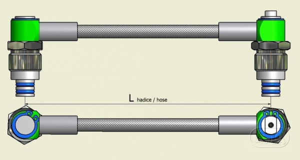 Flexible manifold LOLA 200Bar  - 51cm