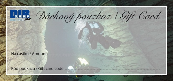 Gift card 1000CZK